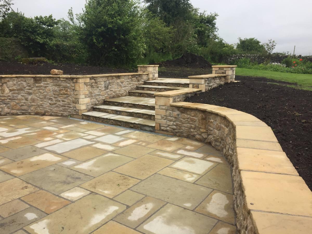 garden renovation job on the Mendips