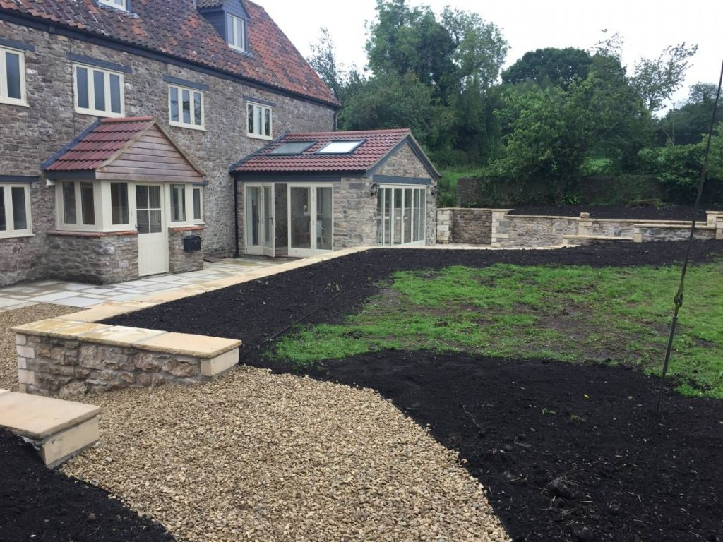 garden renovation job on the Mendips
